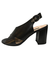 Load image into Gallery viewer, PAUL GREEN 7117 SLINGBACK HEEL SCHWARZ