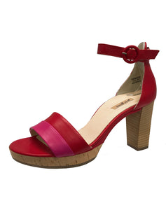 PAUL GREEN 7494 BACKIN STRAP HEEL PINK RED
