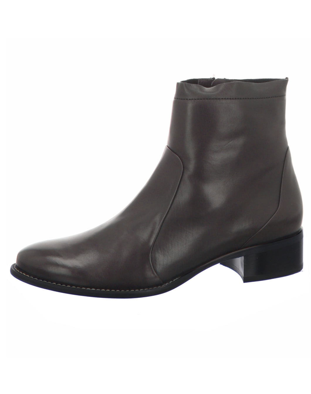 PAUL GREEN 8063 ZIP ANKLE BOOT CHOCOLATE