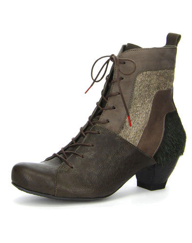 THINK 83215 ZWOA LACE BOOT OLIVE KOMBI
