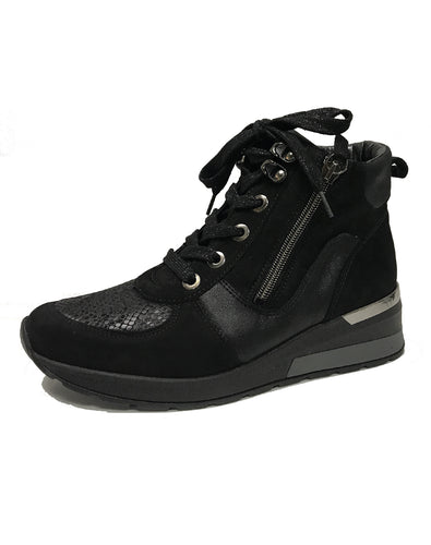 WALDLAUFER 939H81 H CLARA  ZIP LACE BOOT- SCHWARZ KROC DENVER