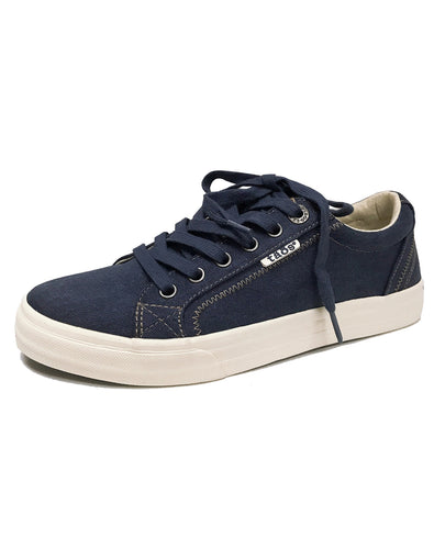 TAOS PLIMSOUL CANVAS LACE UP - BLUE WASH CANVAS