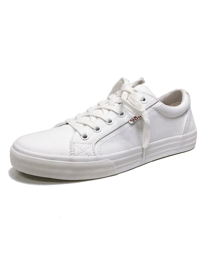 TAOS PLIMSOUL CANVAS LACE UP - WHITE CANVAS