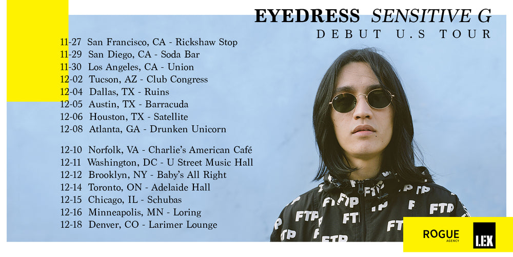 Eyedress 'Sensitive G' debut U.S. Tour