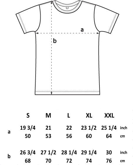 Standard T Shirt Dimension And Placement Chart: Clothing Size Charts
