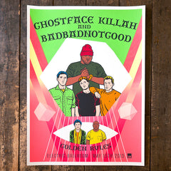 GHOSTFACE KILLAH & BADBADNOTGOOD Screen Print Poster
