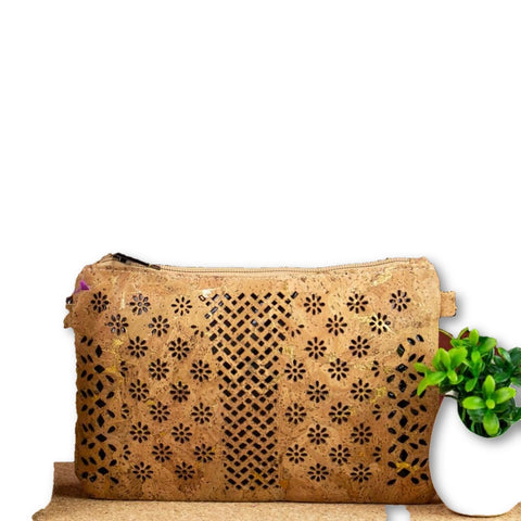 Cross body vegan cork handbag