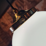 The Smethwick White Glass Globe Pendant Light - Small to Giant - Various Styles &  Finishes