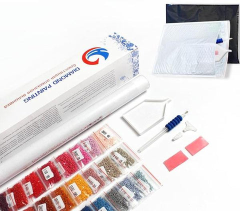 composants kit broderie diamant