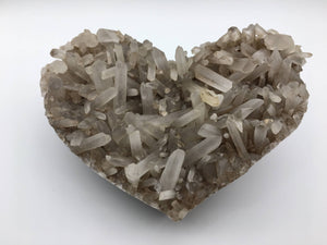 Heart shaped quartz cluster - 101 Crystals
