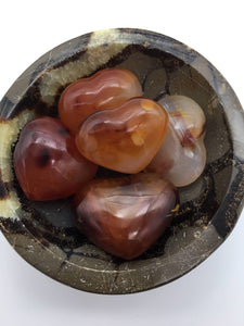 Carnelian hearts (small) - 101 Crystals