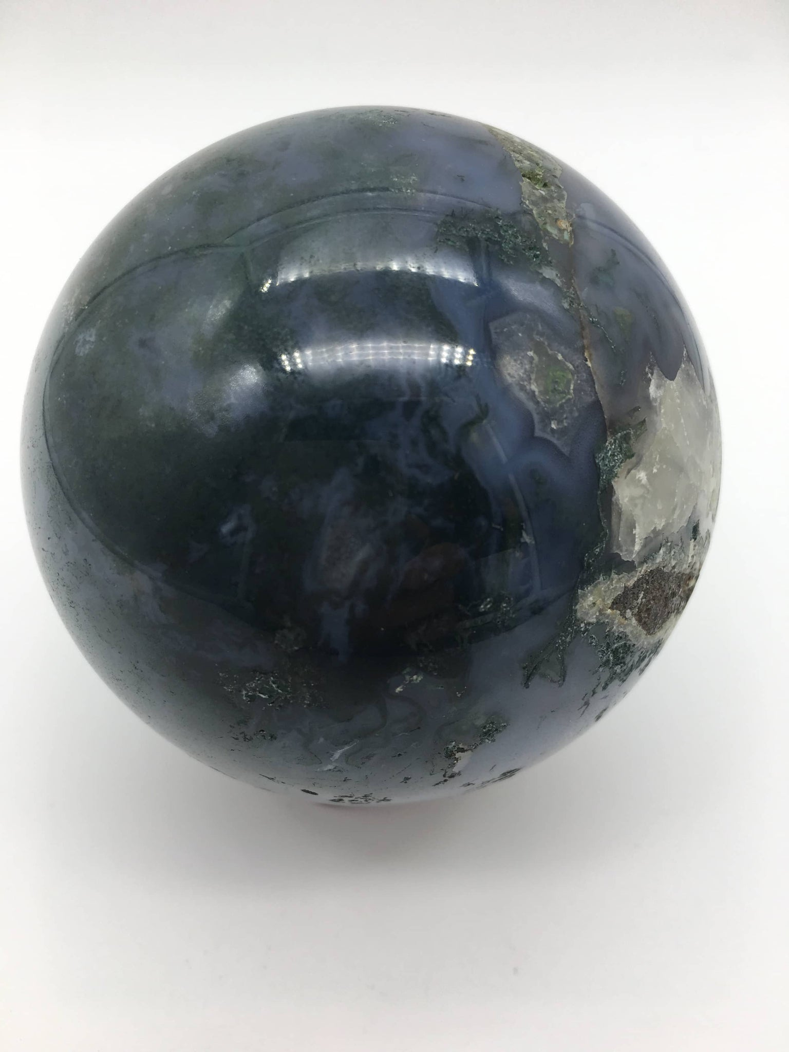 Moss agate sphere - 101 Crystals