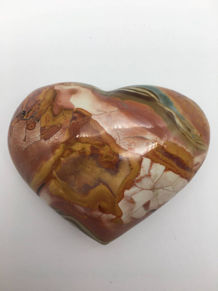 Polychrome jasper heart - 101 Crystals