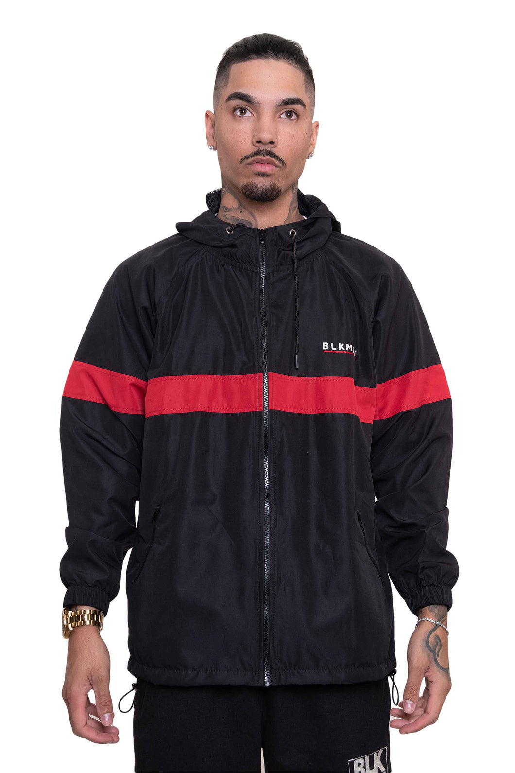 BLK MNY WINDBREATKER - BLACK/RED