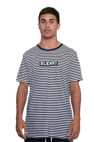 CASUAL TEE - BLACK & WHITE STRIPE