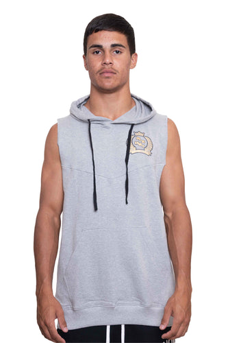 HOODED TANK SINGLET - GREY