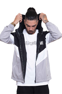 BLK MNY WINDBREAKER - GREY