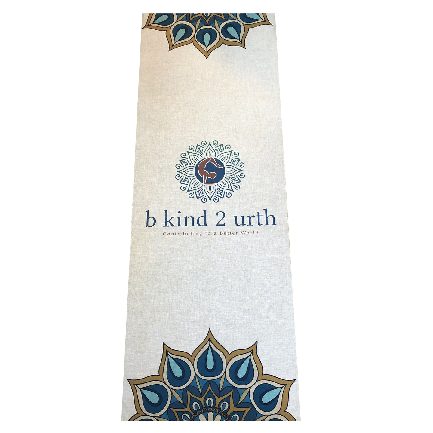 SPIRITUAL WARRIOR  Raw Organic Jute Hemp Vegan Yoga Mat