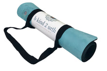 Load image into Gallery viewer,  BKind2Urth Eco-Friendly Non-Toxic Organic Microfiber Yoga Mats Aqua Color