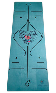 BKind2Urth Eco-Friendly Non-Toxic Organic Microfiber Yoga Mats Aqua Color