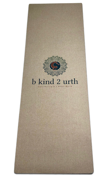 B kind 2 Urth Organic Jute Hemp Eco-Friendly Biodegradable Non-Toxic, No Odor Reversible Natural Jute Hemp Yoga Mats