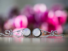 Load image into Gallery viewer, Silver and Moonstone Tribal Ear Climbers