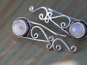 Silver and Amethyst Tribal Ear Climbers