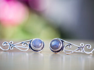 Silver and Labradorite Tribal Ear Climbers