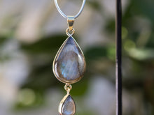 Load image into Gallery viewer, Moonstone Double Teardrop Necklace