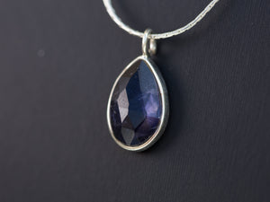 Iolite Teardrop Necklace