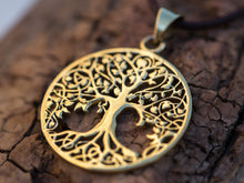 Load image into Gallery viewer, Gold Tree of Life Necklace