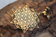 Load image into Gallery viewer, Silver 64 Star Tetrahedron Necklace