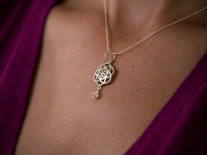Moonstone Flower of Life Necklace