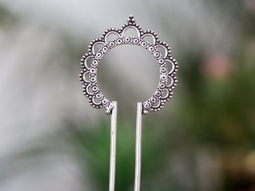 Silver Hair Stick - Ornament No. 1