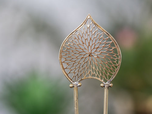 Gold Hair Stick - Ornament No. 3