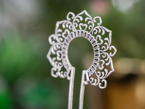 Silver Hair Stick - Ornament No. 2