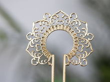 Load image into Gallery viewer, Silver Hair Stick - Ornament No. 3