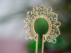 Gold Hair Stick - Ornament No. 2