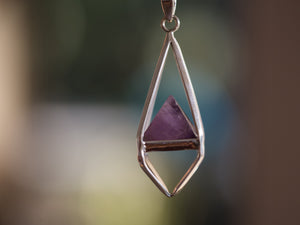 Amethyst Octahedron Necklace