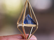 Load image into Gallery viewer, Rose Quartz Octahedron Necklace
