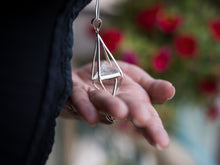 Load image into Gallery viewer, Clear Crystal Octahedron Necklace