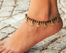 Load image into Gallery viewer, Black Onyx Anklet // Women Anklet // Ankle Bracelet // Hippie Anklet // Beach Anklet // Oriental Anklets // Made To Order Anklet
