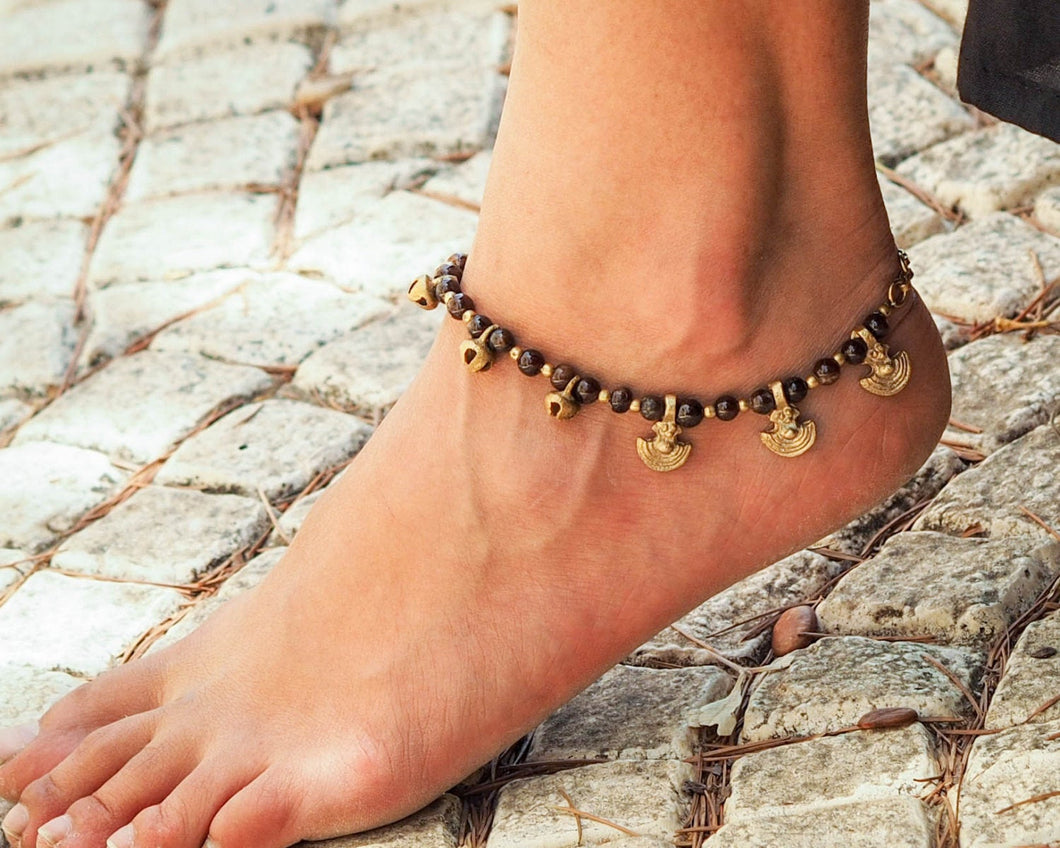 Made To Order Anklet // Women Ankle Bracelet // Brass bells Anklet // Indian Anklet //  Hippie Anklet // Beach Anklet // Oriental Anklet