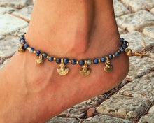 Load image into Gallery viewer, Lapis Lazuli Anklet // Customized Anklet // Ankle Bracelet // Handmade Anklet // Women Anklet // Made To Order Anklet // Hippie Anklet