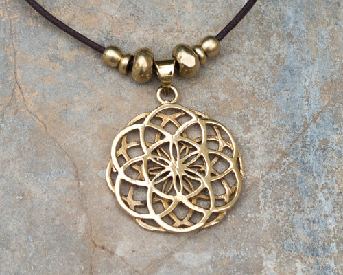 Sacred Geometry Seed Of Life Necklace // Seed Of Life Pendant // Sacred Geometry Jewelry // Necklace With Meaning // Hippie Necklace