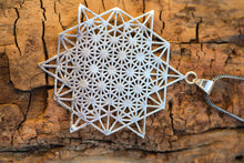Load image into Gallery viewer, Tetrahedron Necklace, Sacred Geometry Necklace,Yoga Necklace for Women,Mandala Pendant Necklace,Gold Mandala Necklace,Gold Bohemian Necklace