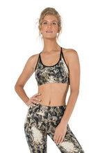 Load image into Gallery viewer, Crop Top for Women, Sports Fitness Top, Activewear, Yoga Top, Open Back Top, Dance Top, Gym Clothes, Tube Top, Sportswear, Snake Pattern Top