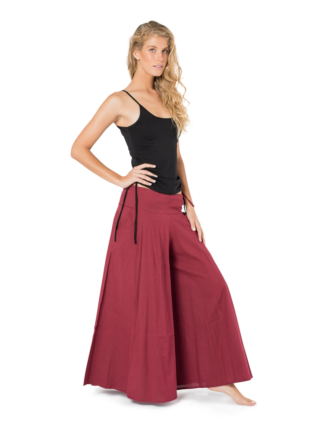 Skirt Pants, Wide Leg Pants, Maxi Pants, Red Pants, Yoga Pants for Women, Boho Pants, Loose Fit, Wide Trousers, Pants with Pockets.