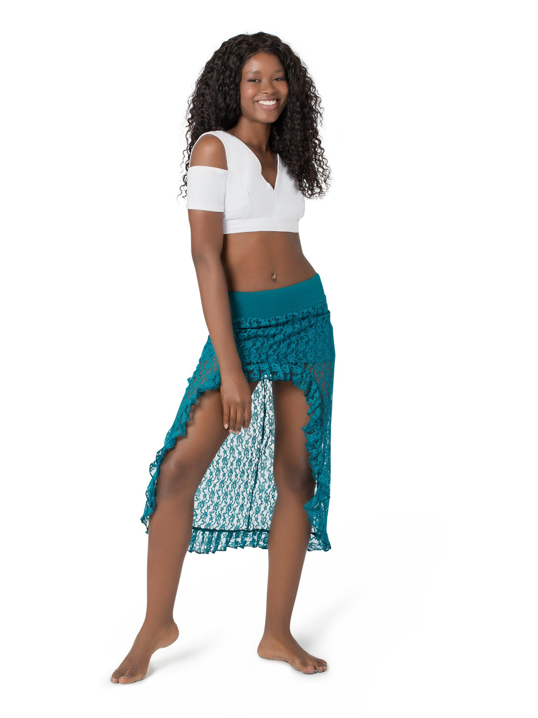 Unique Lace Skirt for Women | Mini Maxi Bellydance Asymmetrical Skirt | Gypsystyle Clothing for Burning Man Festivals, Tribal Fusion Dance