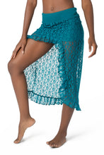 Load image into Gallery viewer, Unique Lace Skirt for Women | Festival Asymmetrical Skirt | Gypsystyle Clothing for Burning Man Festivals, Tribal Fusion Bellydance & More